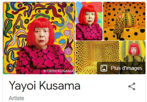 Yayoi Kusama japonese artist