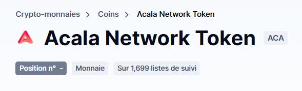 Acala Network Token