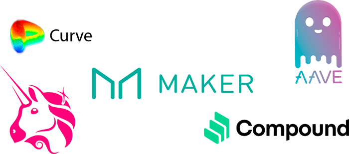 Projet DeFi Ethereum Curve Uniswap Maker Compound AAVE